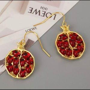 3️⃣@$30 Pomegranate Dangle Earrings